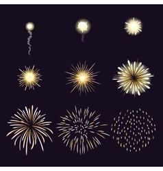 Animation of firework effect in cartoon comic vector image vector image