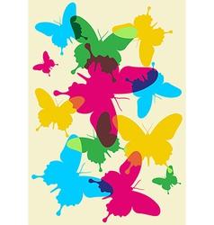 Butterflies spring pattern vector image vector image