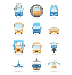 Different transportations icons set vector image vector image