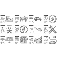 Ecology line icon set vector image vector image