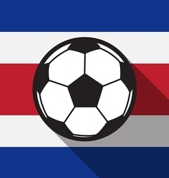 football icon with Costa Rica flag vector image vector image