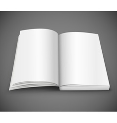 open spread of book with blank white pages vector image