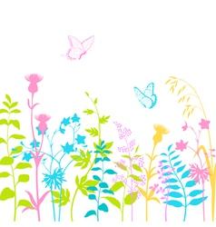 Summer floral background vector image