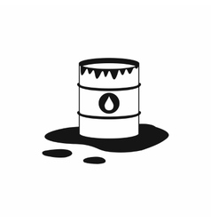 Barrel and oil spill icon icon simple style vector image