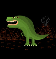 funny tyrannosaurus rex vector image