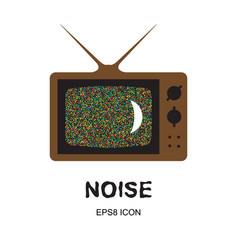 glitch or noise tv vector image