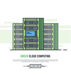 green cloud servers vector image vector image