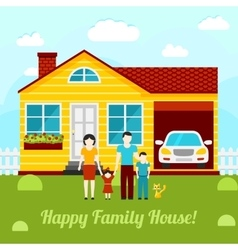 Happy family house concept - couple vector image