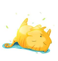 orange cute cat cartoon vector image
