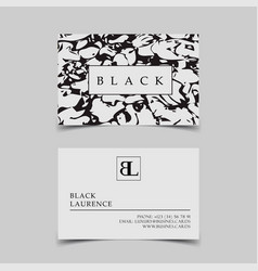template business cards with black and vector image