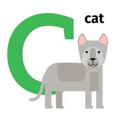 English animals zoo alphabet letter C vector image