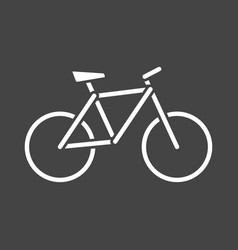 Bike silhouette icon on grey background bicycle vector