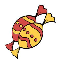 candies icon cartoon vector image
