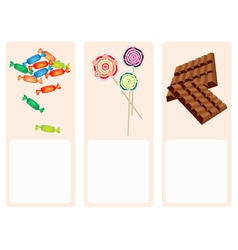 Chocolates Lollipops and Hard Candy Background vector image