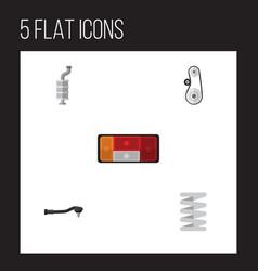 flat auto set of cambelt input technology vector image vector image