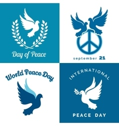 International Peace Day Typographic Design Set vector image vector image