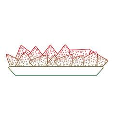 Isolated nachos design vector