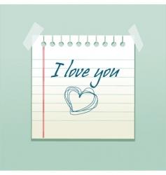 love you note vector image