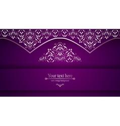Luxurious victorian retro background pattern vector