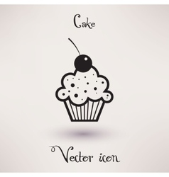 Pictograph of cake icon Template for your design vector image vector image
