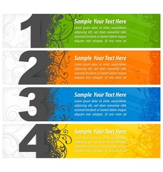 Set of colored number banners vector image vector image
