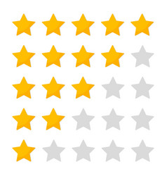 5 star rating customer review icon evaluate vector