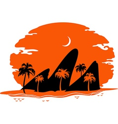 abstract landscape tropical beach vector image