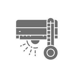 air conditioning with heating grey icon vector image