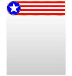 American symbols ribbon frame design element vector