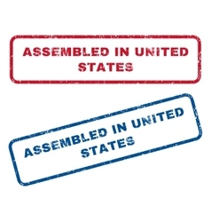Assembled In United States Rubber Stamps vector