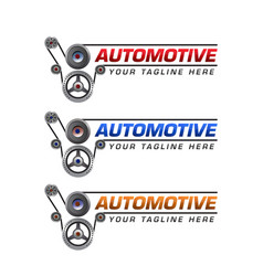 automotive logo template design vector image