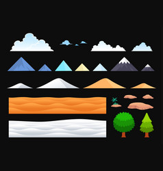 Background templates for side scrolling game vector
