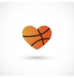 Basketball heart vector