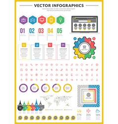 Big pack of data visualization infographics vector