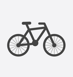 Bike silhouette icon on white background bicycle vector