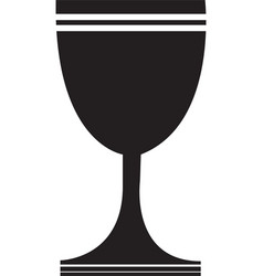black christian chalice icon isolated vector image