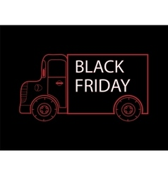 Black Friday truck goods closeout sale vector