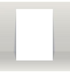 Blank poster Mock-Up vector image
