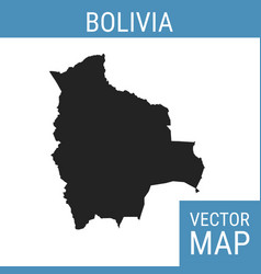 bolivia map with title vector image