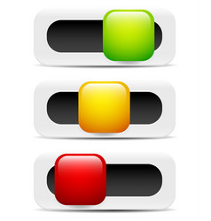 Button switch toggle slider user interface vector