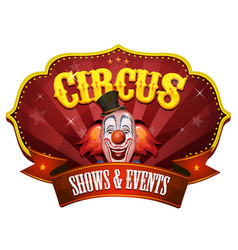 carnival circus banner with clown head vector image