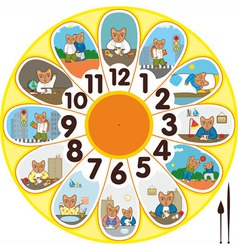 Clock Cat Schoolchild vector