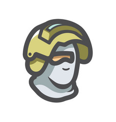 Commando police officer in uniform and face mask vector