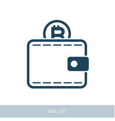 Crypto wallet icon vector