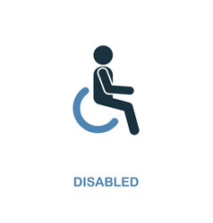 disabled icon monochrome style design from vector image