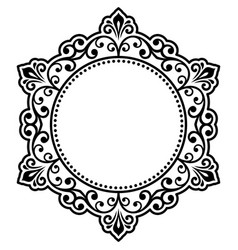 elegant ornament in classic style vector image