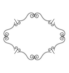 Elegant victorian with diamond shape frame vector