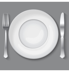Empty white plate vector