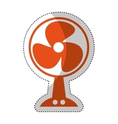 fan appliance isolated icon vector image
