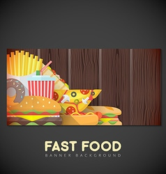 fast food banner backdrop template vector image